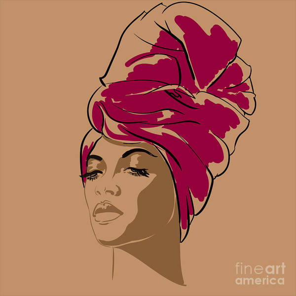 Wall Art - Digital Art - Attractive Young African-american by Hahanna