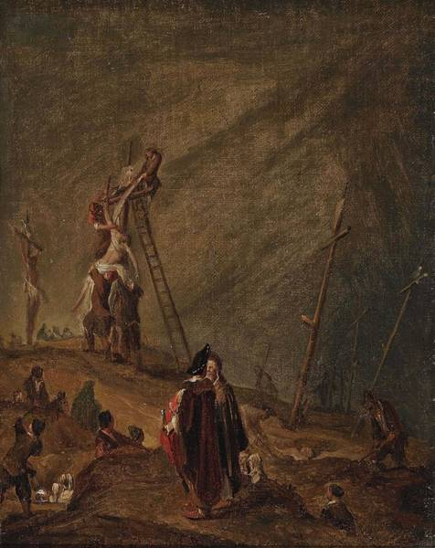 Wall Art - Painting -  Attributed To Gelder, Adrent De Descent From The Cross by Celestial Images