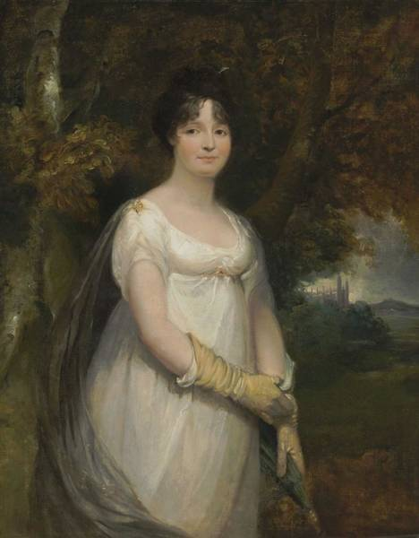 Wall Art - Painting - Attributed To Sir William Beechey, R.a.  Burford, Oxfordshire 1753-1839 London Portrait Of A Lady by Celestial Images