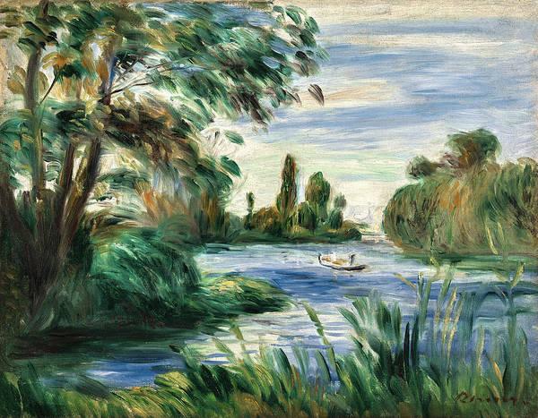 Painting - Au Bord De La Riviere. La Seine by Pierre-Auguste Renoir