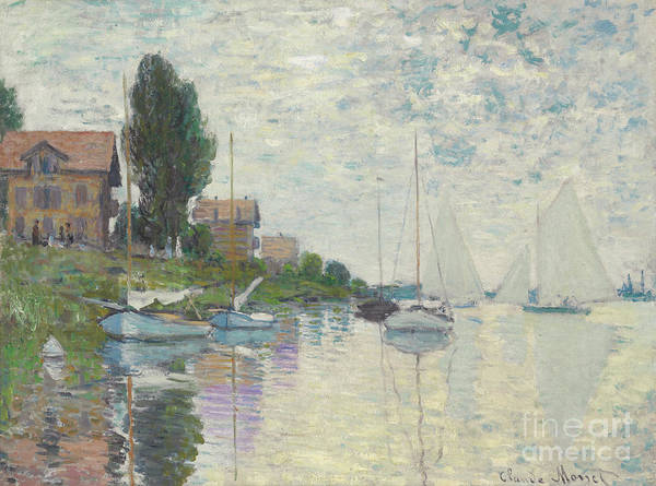 Painting - Au Petit-gennevilliers, 1874 by Claude Monet