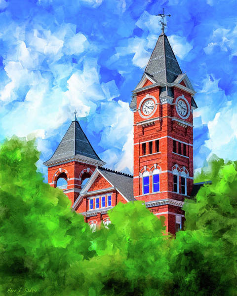Mixed Media - Memories Of Auburn - Samford Hall by Mark Tisdale