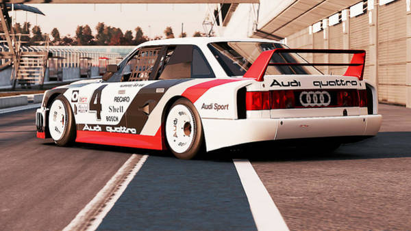 Photograph - Audi 90 Quattro Imsa Gto - 58 by Andrea Mazzocchetti