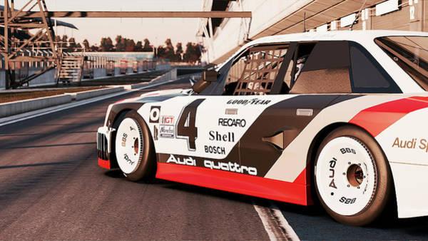 Painting - Audi 90 Quattro Imsa Gto - 61 by Andrea Mazzocchetti