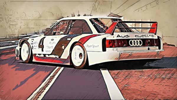 Painting - Audi 90 Quattro Imsa Gto - 68 by Andrea Mazzocchetti