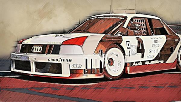Painting - Audi 90 Quattro Imsa Gto - 69 by Andrea Mazzocchetti