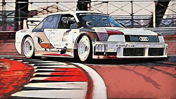 Painting - Audi 90 Quattro Imsa Gto - 71 by Andrea Mazzocchetti