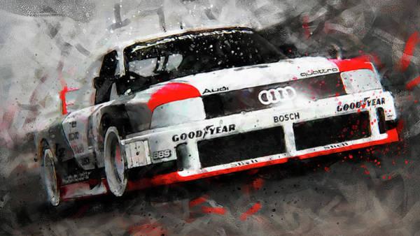 Painting - Audi 90 Quattro Imsa Gto - 72 by Andrea Mazzocchetti