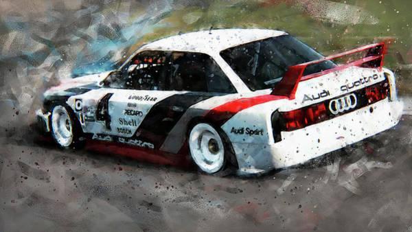 Painting - Audi 90 Quattro Imsa Gto - 73 by Andrea Mazzocchetti