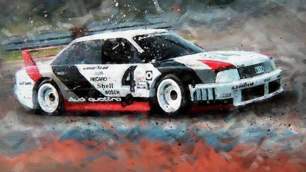 Painting - Audi 90 Quattro Imsa Gto - 74 by Andrea Mazzocchetti