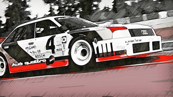 Painting - Audi 90 Quattro Imsa Gto - 76 by Andrea Mazzocchetti