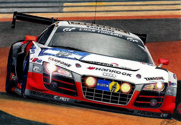 Wall Art - Mixed Media - Audi R8 Gt3 by Lyle Brown