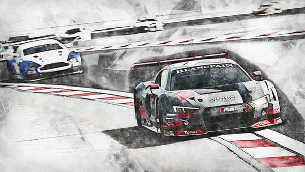 Painting - Audi R8 Sport Team Wrt - 11 by Andrea Mazzocchetti