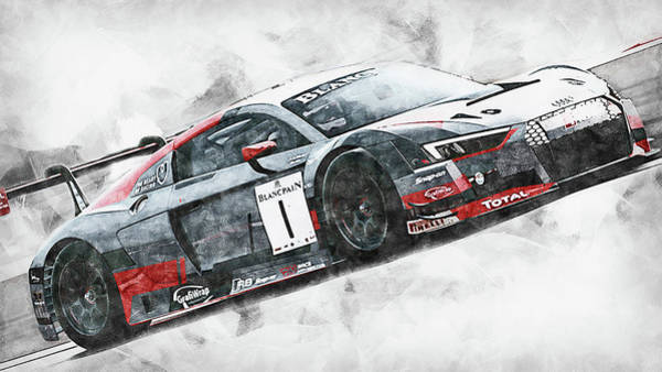 Painting - Audi R8 Sport Team Wrt - 12 by Andrea Mazzocchetti
