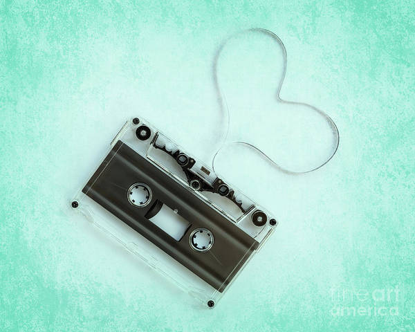 Wall Art - Photograph - Audio Cassette Love by Delphimages Photo Creations