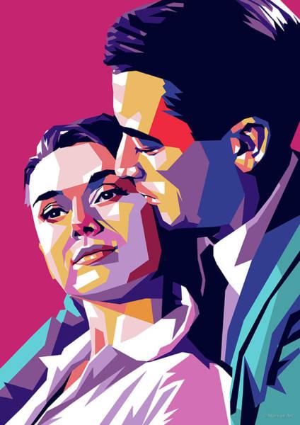 Peck Wall Art - Digital Art - Audrey Hepburn And Gregory Peck by Stars on Art