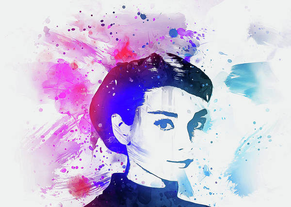 Digital Art - Audrey Hepburn Art by Ian Mitchell