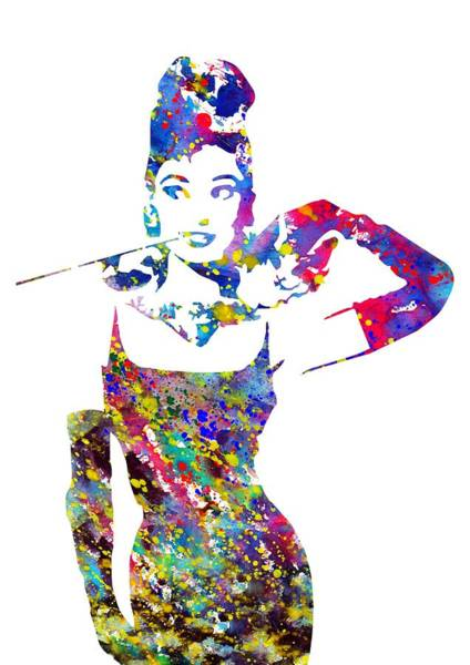 Wall Art - Digital Art - Audrey Hepburn by Erzebet S