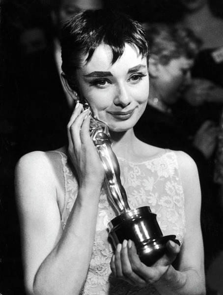 Red And White Photograph - Audrey Hepburn by Ralph Morse