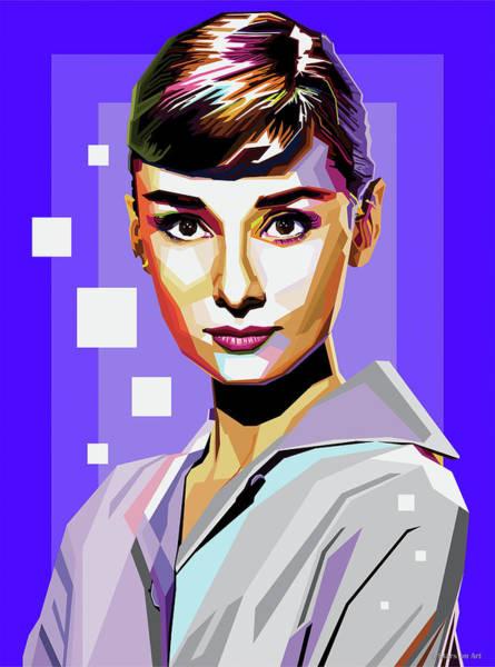 Pop Star Digital Art - Audrey Hepburn by Stars-on- Art
