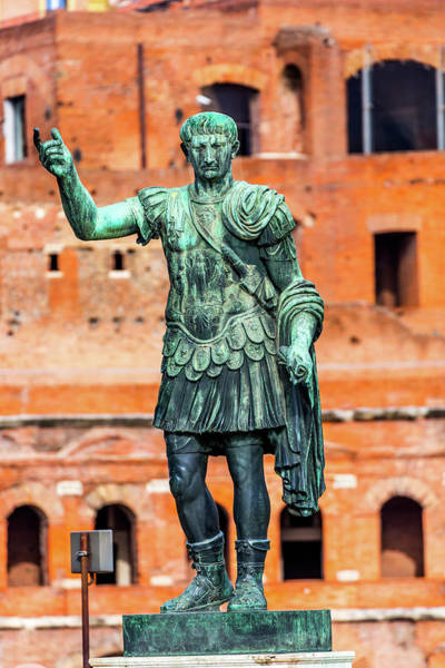 Wall Art - Photograph - August Caesar Bronze Statue Trajan by William Perry