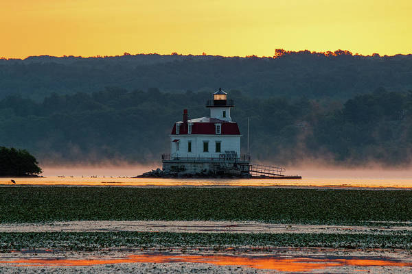 Photograph - August Dawn At Esopus Light IIi 2017 by Jeff Severson