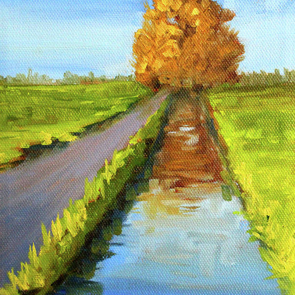 Wall Art - Painting - August Landscape by Nancy Merkle