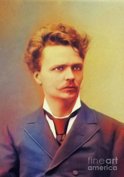 Wall Art - Painting - August Strindberg, Literary Legend by John Springfield