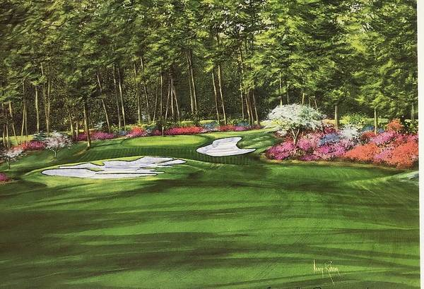 Augusta Masters Painting - Augusta # 10 by Nancy Raborn