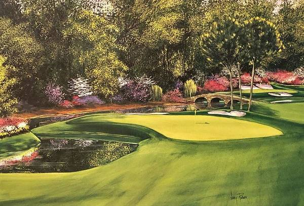 Augusta Masters Painting - Augusta #11 by Nancy Raborn