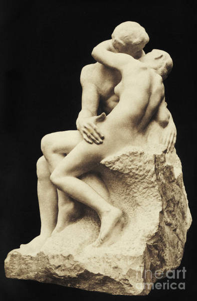 Wall Art - Sculpture - Auguste Rodin The Kiss, 1886 Marble Sculpture by Auguste Rodin