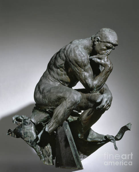 Wall Art - Sculpture - Auguste Rodin The Thinker by Auguste Rodin