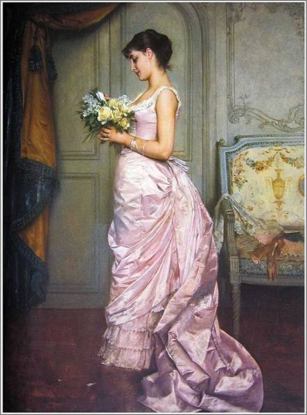 Wall Art - Painting - Auguste Toulmouche  1829-1890  The Ticket - 1883 by Celestial Images