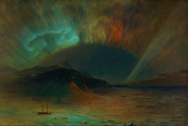 Wall Art - Painting - Aurora Borealis - Digital Remastered Edition by Frederic Edwin Church