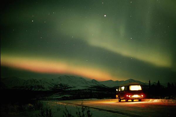 Van Johnson Photograph - Aurora Borealis Nothern Lights Over by Johnny Johnson