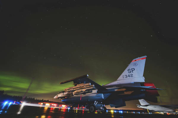 Wall Art - Photograph - Aurora Borealis Over Kalifax Air Base, Sweden by USAF Jonathan Snyder