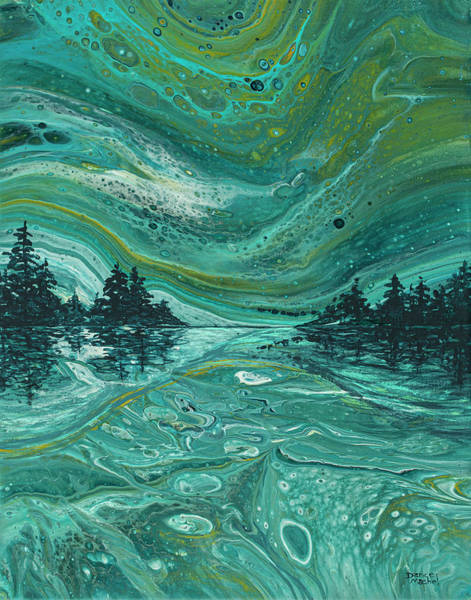 Painting - Aurora Borealis Treescape by Darice Machel McGuire