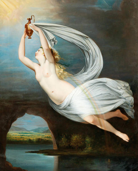 Painting - Aurora by Circle of Anne-Louis Girodet de Roussy-Trioson
