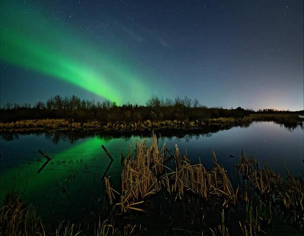 Photograph - Aurora Over Pond by Dan Jurak
