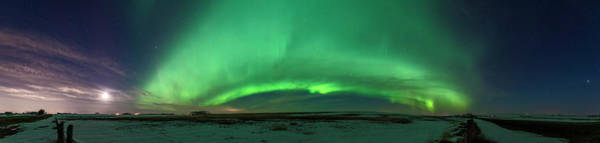 Wall Art - Photograph - Aurora Panorama On Highway 564 North by Alan Dyer