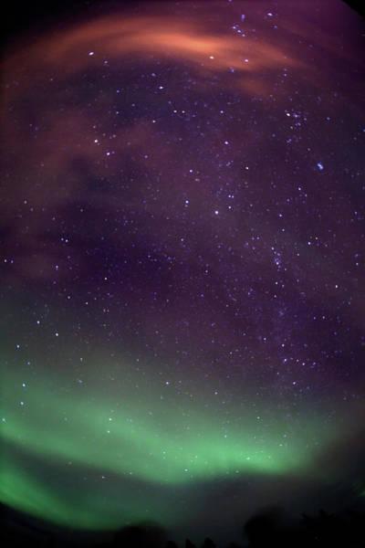 Yellowknife Wall Art - Photograph - Aurora, Stars, Horizon by Dave Brosha Photography