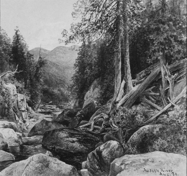 Wall Art - Painting - Ausable River George Henry Smillie American, New York 1840-1920 New York by George Henry Smillie