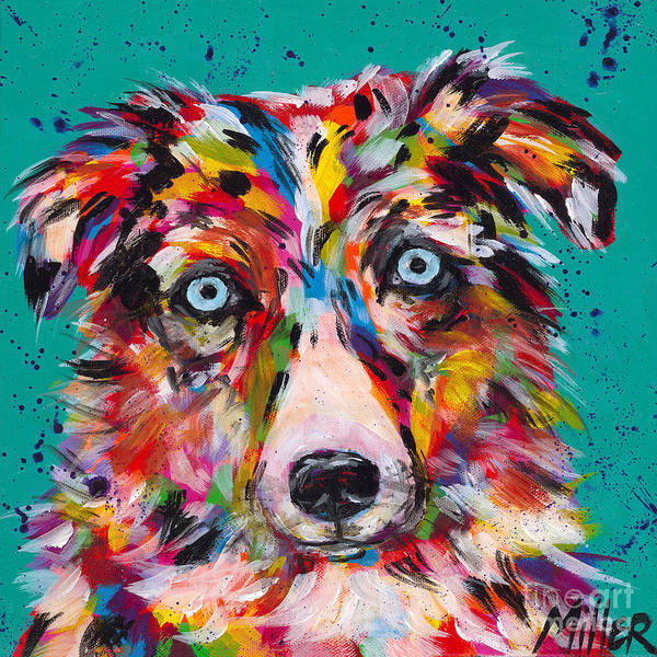 Wall Art - Painting - Aussie Stare by Tracy Miller