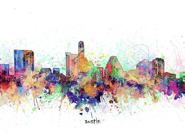 Wall Art - Digital Art - Austin Artistic by Bekim M
