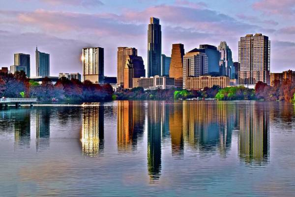 Wall Art - Photograph - Austin At Dusk In December by Frozen in Time Fine Art Photography