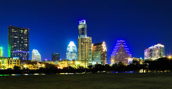 Downtown Austin Photograph - Austin Cityscape Skyline At Night by Dszc