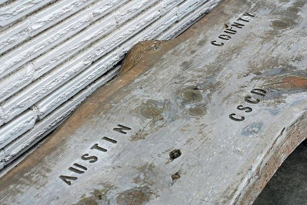 Wall Art - Photograph - Austin County C.s.c.d. Bench  by Connie Fox