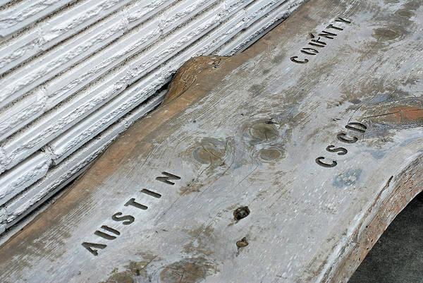 Photograph - Austin County C.s.c.d. Bench  by Connie Fox
