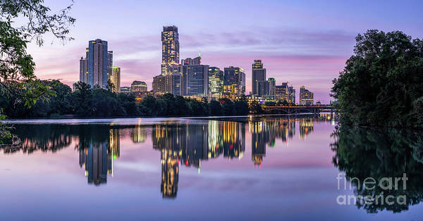 Wall Art - Photograph - Austin Lou Neff Sunrise Reflection Pano by Bee Creek Photography - Tod and Cynthia