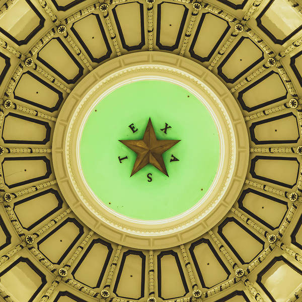 Photograph - Austin Texas Capitol Dome And Lone Star 1x1 by Gregory Ballos